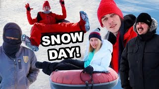 LOGAN FILMING A MOVIE IN THE SNOW!!