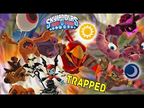 Trapping Light & Dark Villains Cutscenes & Portal Effects! w/ Bat Spin Skylanders Trap Team Gameplay
