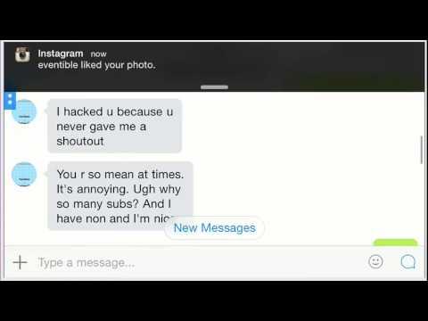 Talking with my hacker on kik