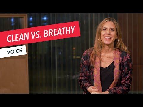 Voice Techniques: Clean vs. Breathy | Singing | Vocals | Voice | Lesson