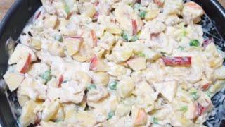 Russian Salad Recipe |  Special New Year Night Recipe | Creamy Russian Salad By Maria Ansari .