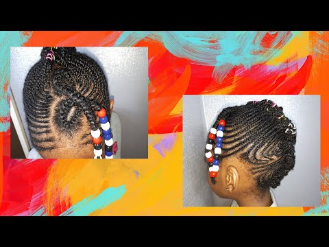 HOW TO DO A BOW BRAID ON NATURAL 4c KIDS HAIR