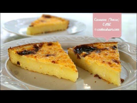 Easy Cassava Cake - 5 Ingredients