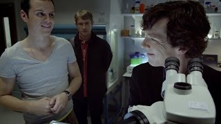 Sherlock Meets Jim Moriarty | The Great Game | Sherlock | BBC