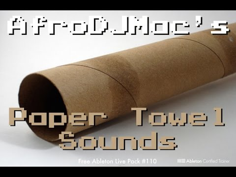 Free Ableton Live Pack: Paper Towel and Local Cafe Sounds