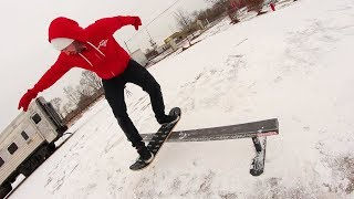 How Skateboarders Use The Snow.