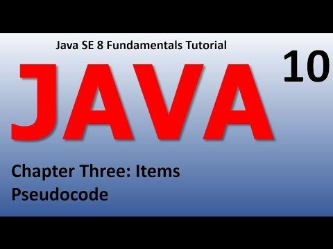 Java Pseudo Code Epi 10