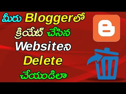 How To Delete Bloggers Blog Permanently | Telugu Tech Trends