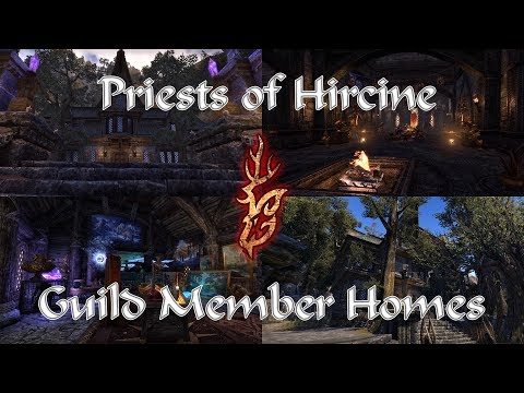 Priests of Hircine Guild Member Homes! ESO