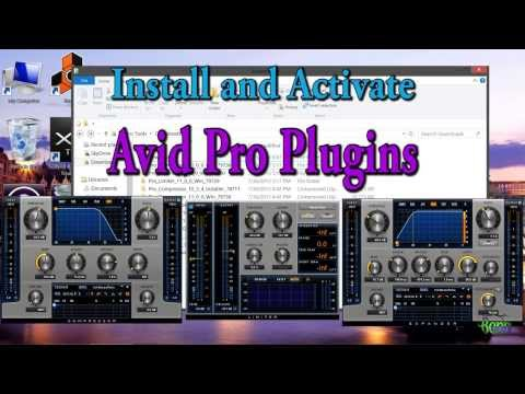 Install and Activate Avid Pro Compressor, Expander, and Limiter