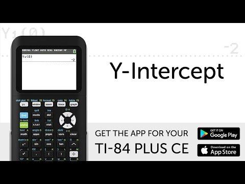 Y-Intercept - Manual for TI-84 Plus CE Graphing Calculator