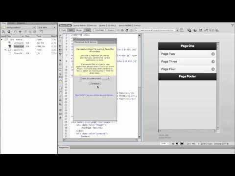 Videotutorial: Dreamweaver CS6 y PhoneGap