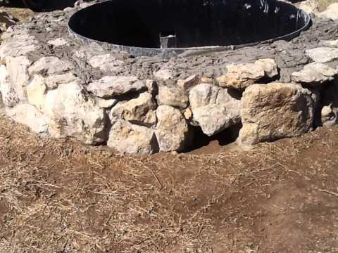 Justin Texas Backyard Stone Fire Pit
