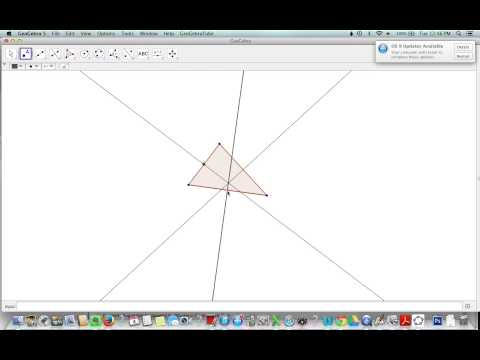 Constructing a Centroid in Geogebra