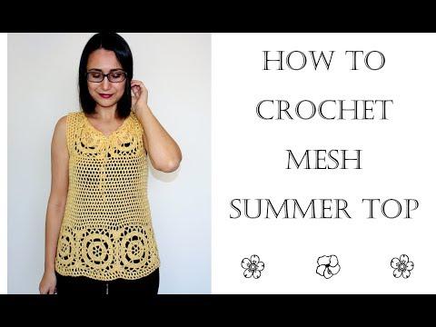 How to Crochet Easy Summer Top