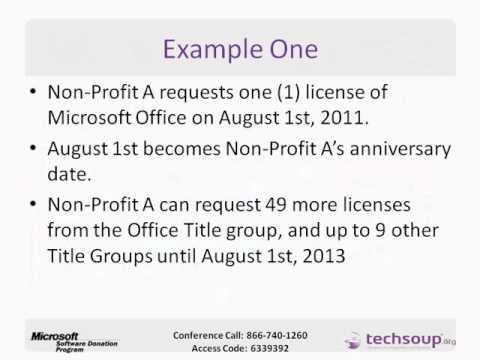 Webinar - Microsoft Donation: How Does it Work? - 2011-08-04