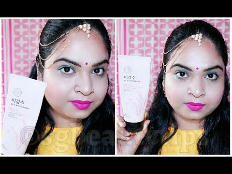 #Quick Review Series | The Face Shop Rice Water Bright Cleansing Foam Review | Srestha Ghose |