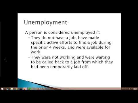 Calculating unemployment