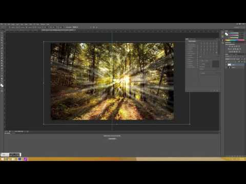 Creating artificial sun rays in photoshop