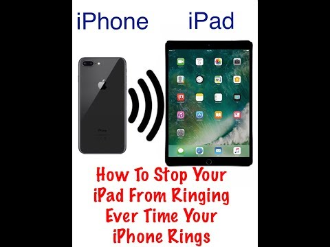 How to Stop Your iPad From Ringing Every Time Your iPhone Rings