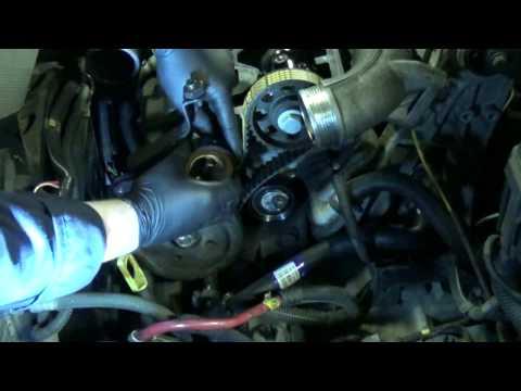 D5252T timing belt change part 6: Injection pump belt Installation. Volvo 850 S70 V70 S80 TDI 2.5D