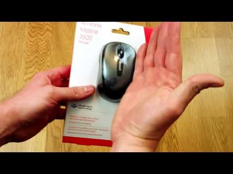 UNBOXING Microsoft Wireless Mobile Mouse 3500