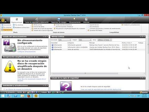 Symantec Backup Exec - Configurar almacenamiento