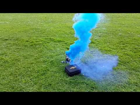 Flying a Quadcopter with a Smoke grenade