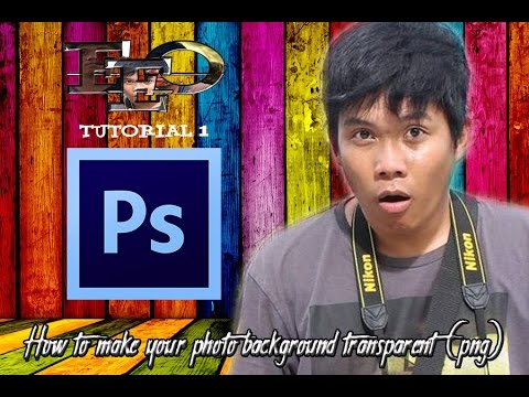 How to Make Your Photo Background Transparent (PNG) Using Adobe Photoshop CS6