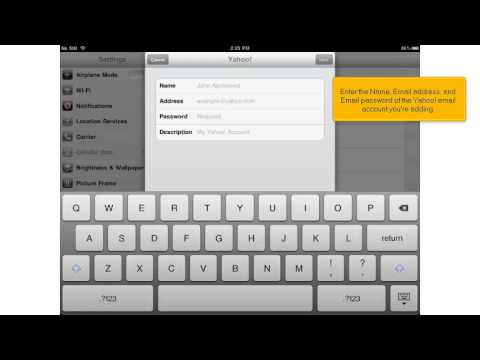 Setting up a Yahoo! email account on your iPad
