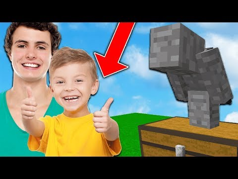 KID SENT ME TO TROLL HIS LITTLE BROTHER ON MINECRAFT...