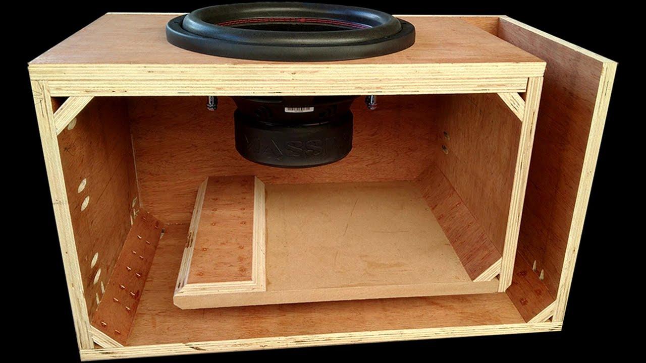 How to Make L-Port Plywood Subwoofer Box - DIY