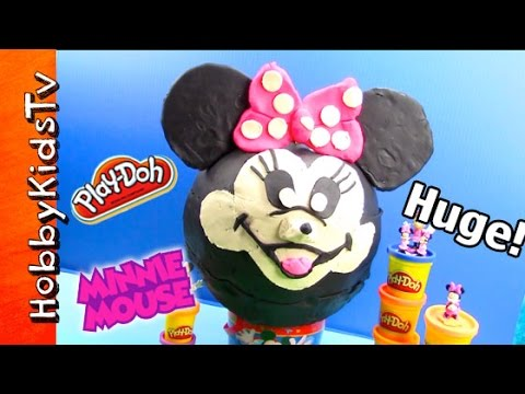 HUGE Play-Doh Pumpkin Head SURPRISE TOYS! Minnie Mouse Makeover by HobbyKidsTV