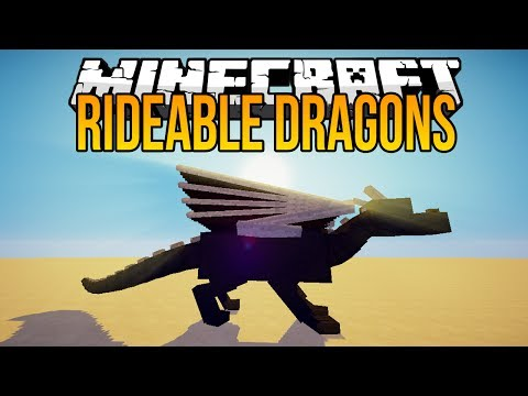 Minecraft Mods - Rideable Ender Dragons - Tame & Ride 7 New Dragons!