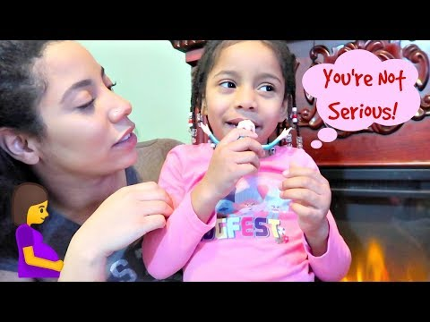 4 year old does not believe Mommy is PREGNANT! Zoe's reaction + Update