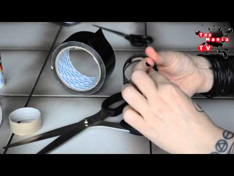 DIY: Cybergoth gas mask from duct tape