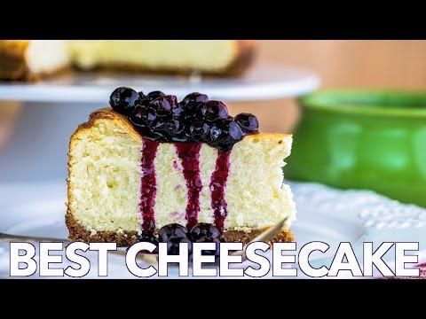 Dessert: Best Cheesecake with Blueberry Topping - Natasha's Kitchen