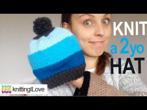 knit 2 - 5 year old HAT | knittingILove