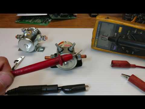 How to test 12vdc solenoid.