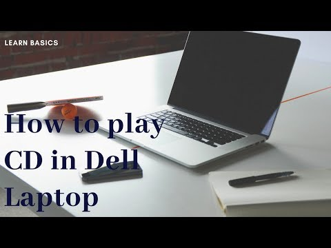 How to play CD in Dell Laptop | How to open CD in computer | play CD | how to run CD in laptop