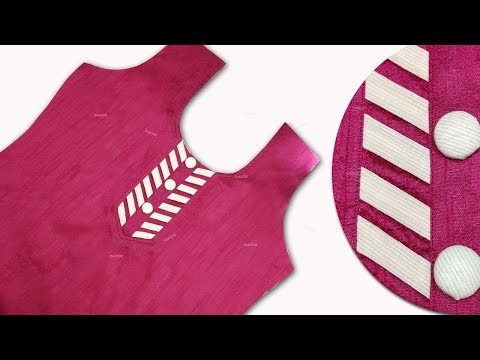 Kurti Neck design stitching professional method ,fashion designing technique