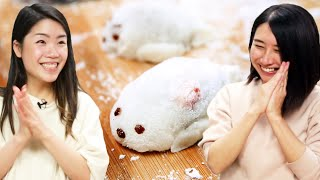 I Try Making Cute Seal Mochi For Rie •Tasty
