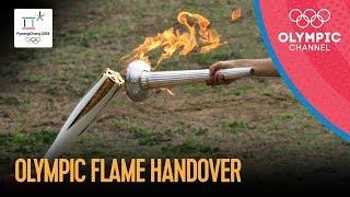 🔥 Olympic Flame Handover Ceremony PyeongChang 2018