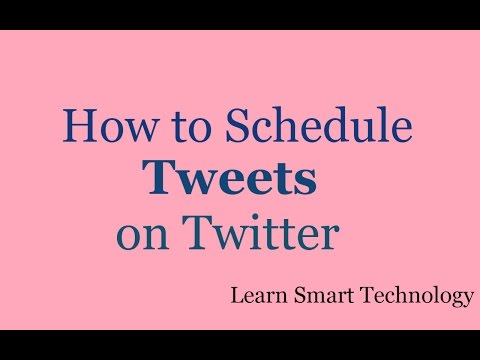 How To Schedule Posts And Tweets On Twitter