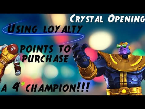 Crystal Opening & Loyalty points for a 4 STAR CHAMPION !!!