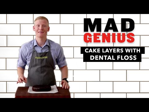 How to Cut Cake Layers with Dental Floss | Mad Genius Tips | Food & Wine