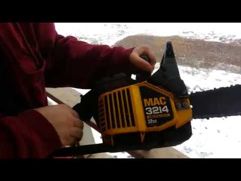 How To: Tighten a chain on a Chainsaw (Mac 3214)