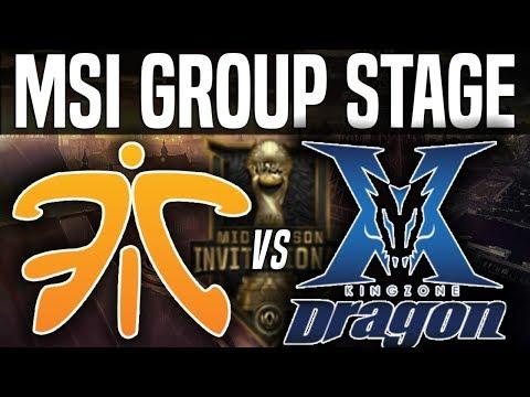 FNC vs KZ - MSI 2018 Group Stage Day 5 - Fnatic vs Kingzone DragonX | League Of Legends MSI 2018