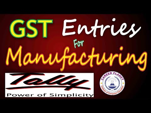 Tally ERP 9-GST Entries for Manufacture, Production, Raw Material Consuming in Tally Part-9 (Hindi)
