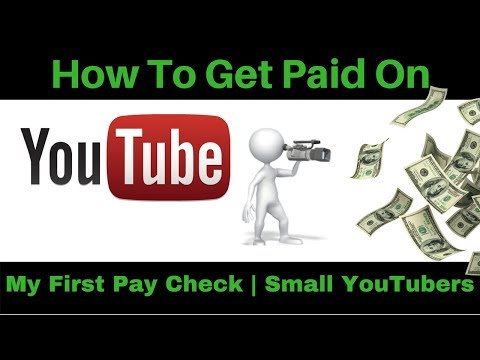 How to Get Paid on YouTube for Beginners 2018 | My First Paycheck from youtube | Small Youtuber